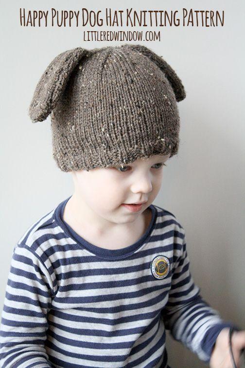 de434cbb0 Happy Puppy Dog Hat Knitting Pattern