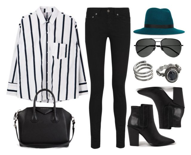 """""""Sin título #12493"""" by vany-alvarado ❤ liked on Polyvore featuring Yves Saint Laurent, rag & bone, AllSaints, Mudd and Givenchy"""
