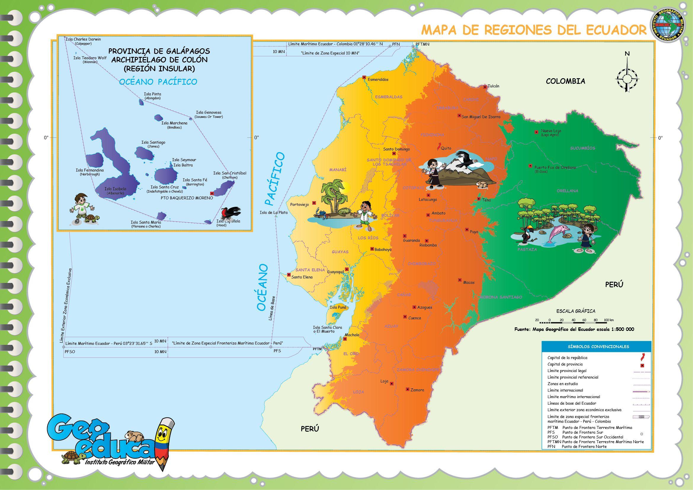 Mapa Regiones Del Ecuador Jpg 2339 1654 Map Map Screenshot
