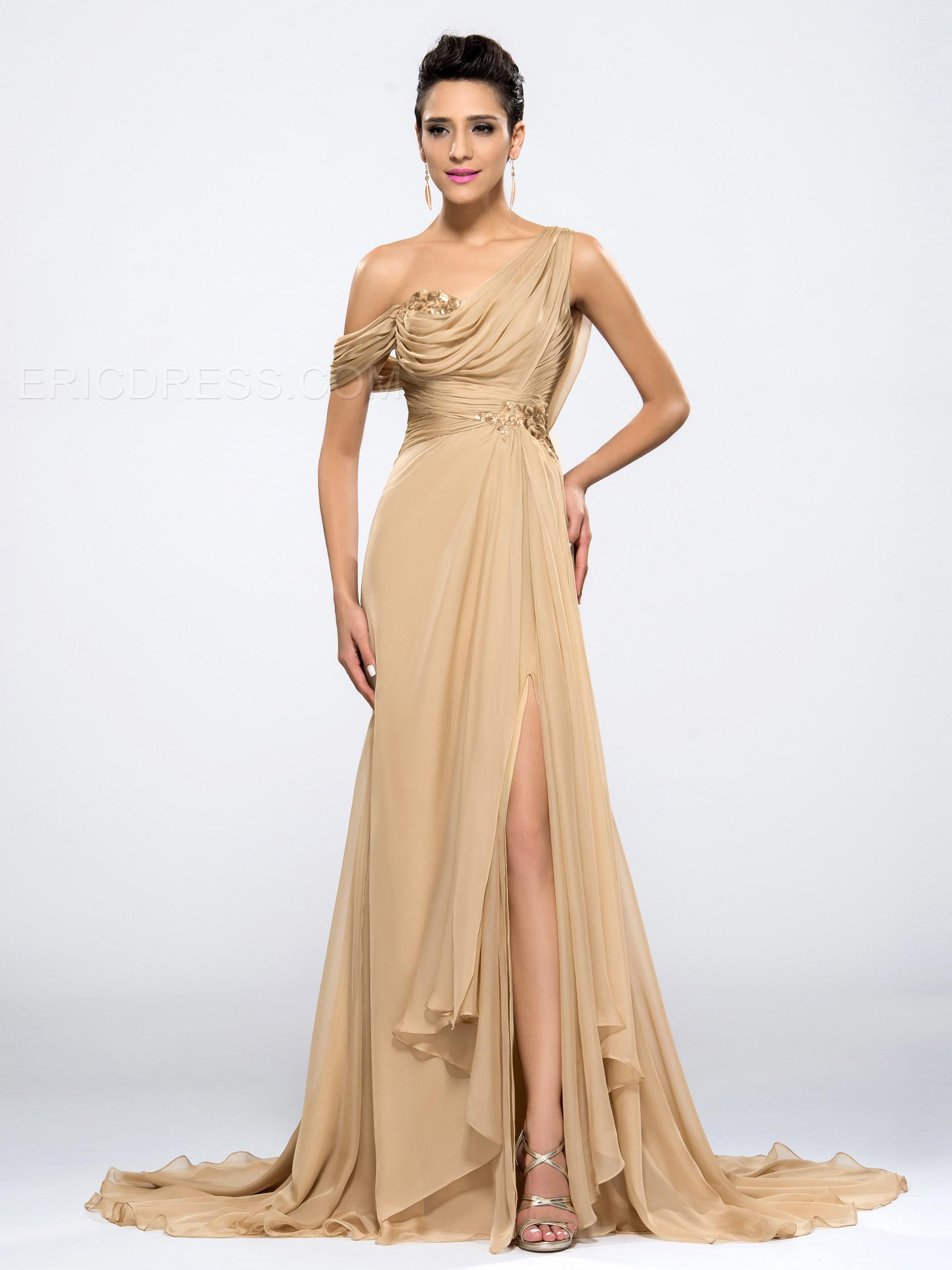 0d772cd4d Gorgeous Front-Split One-shoulder Floor-length Sequins Evening Dress  Popular Prom Dresses- ericdress.com 10990212