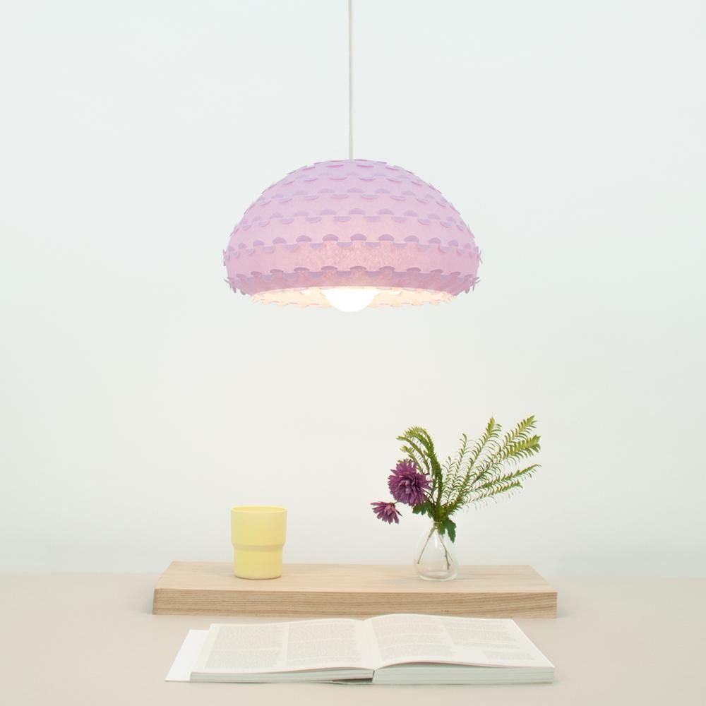 Pastel lavender pendant lamp kasa l pendant lamps lavender and soft purple pendant lamp shade from washi paper over dining table mozeypictures Gallery