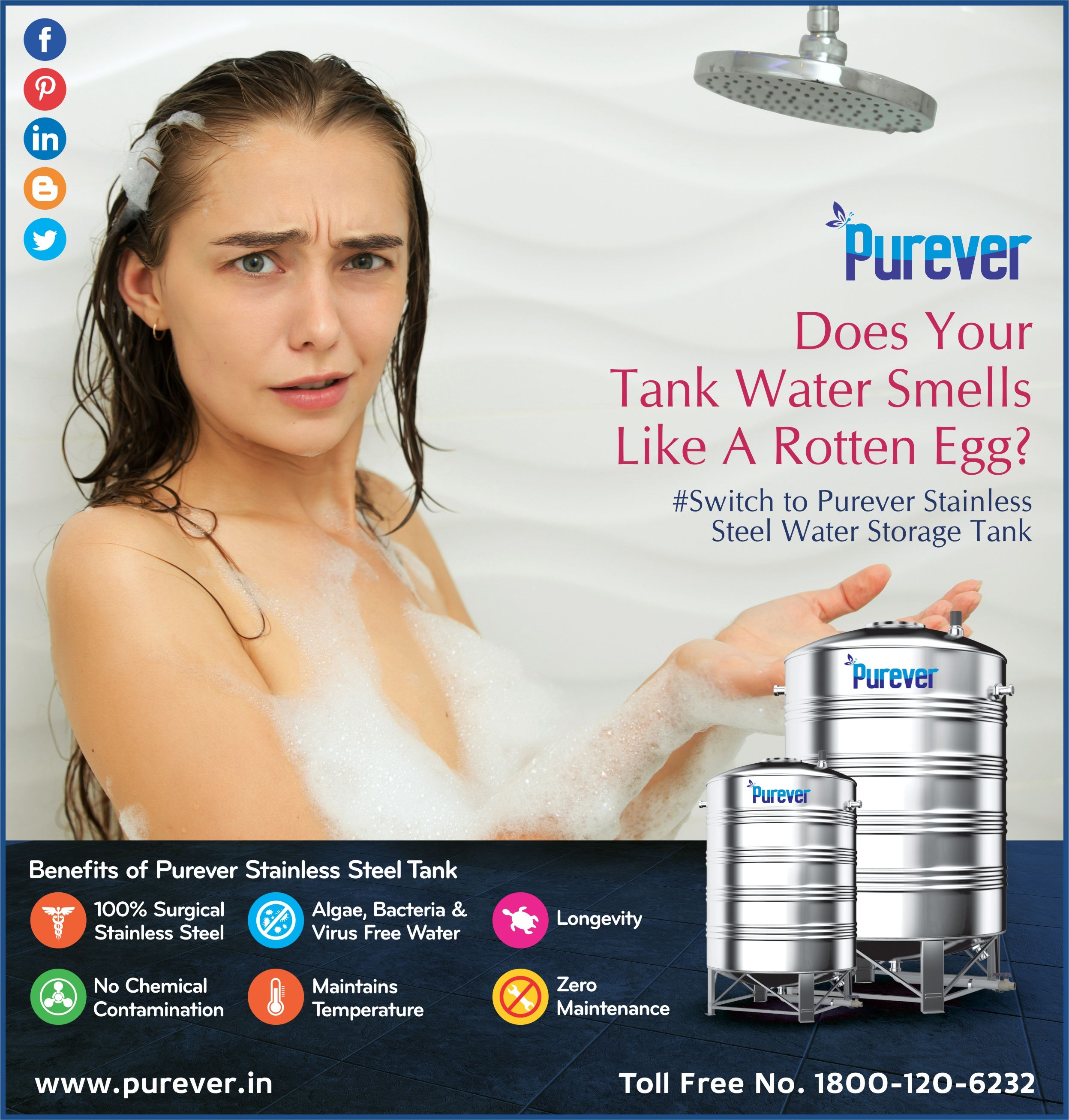 Does Your Water Tank Smells Like Rotten Egg? Purever