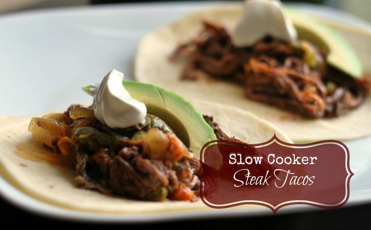 Slow Cooker Steak Tacos