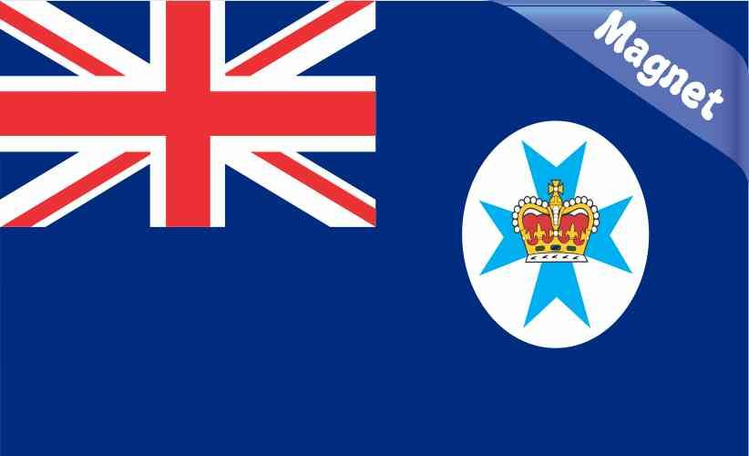 5in X 3in Queensland Australia Flag Magnet Vinyl Vehicle Door Flag Magnets Queensland Australia Great Britain Flag Flag