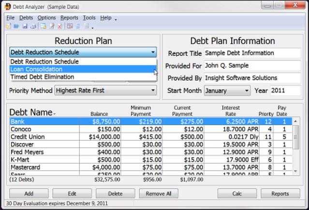 excel debt reduction spreadsheet