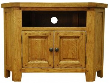 Lincoln Corner TV Unit LI-STM-CTV Features a warm glow and a rustic edge £253.00