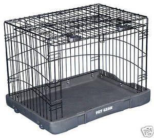 Pet Gear Travel Lite Dog Crate 30 X 22 X 24 Tl5930bk Wire Dog Crates Dog Crate Pet Gear