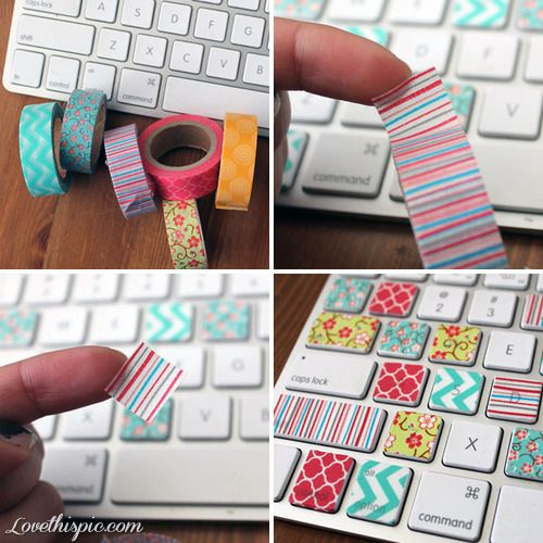 Cute diy keyboard keys girly cute colorful girl keys creative diy keyboard crafts keyboard keys