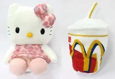 """Hello Kitty Pink Original  """"Hello Kitty and My Melody"""" Happy Meal McDonalds"""