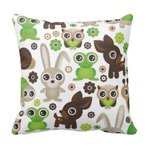 =>>Cheap          	Cute bunny owl deer frog turtle pattern throw pillow           	Cute bunny owl deer frog turtle pattern throw pillow We have the best promotion for you and if you are interested in the related item or need more information reviews from the x customer who are own of them before...Cleck Hot Deals >>> http://www.zazzle.com/cute_bunny_owl_deer_frog_turtle_pattern_pillow-189072881828598557?rf=238627982471231924&zbar=1&tc=terrest