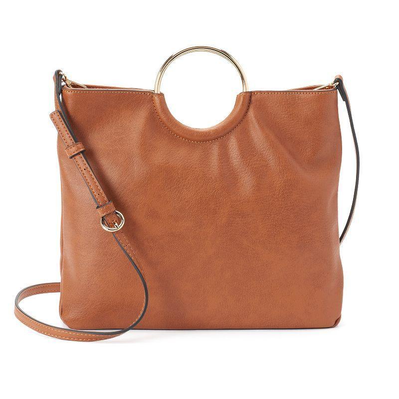 05ba6919d67 LC Lauren Conrad Ring Convertible Crossbody Bag, Women s, Light Pink ...