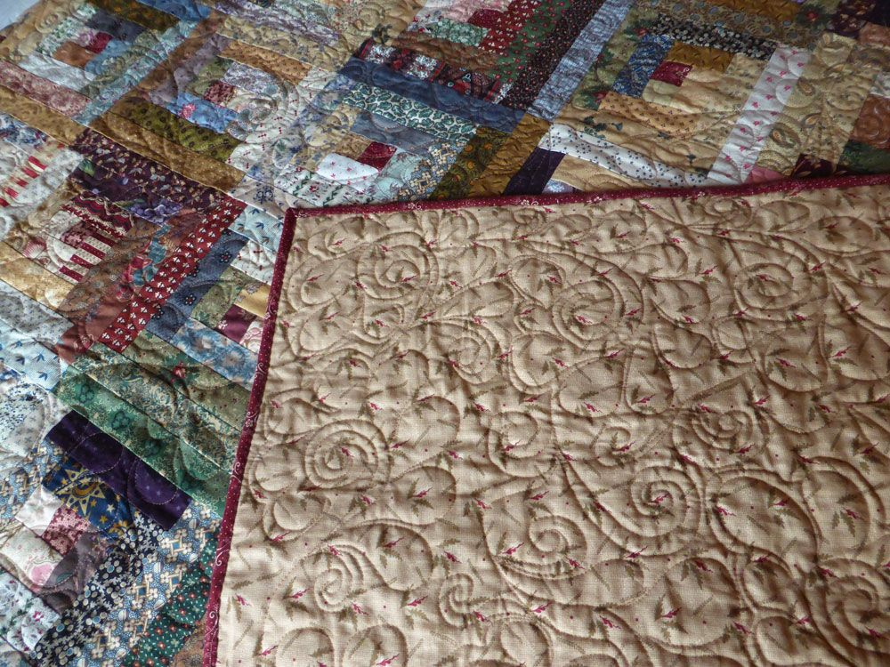 Scrappy Affair Log Cabin Quilt Finished • Pine Valley ...