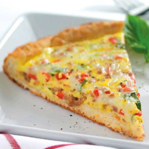 70 Saucy Creamy And Cheesy Italian Christmas Food Recipes: Sausage & Pepper Biscuit Frittata