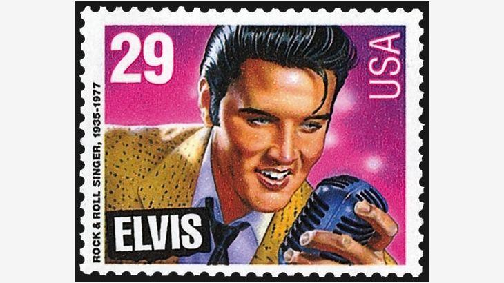 Elvis Presley Stamps Stamp Values Price John F Kennedy