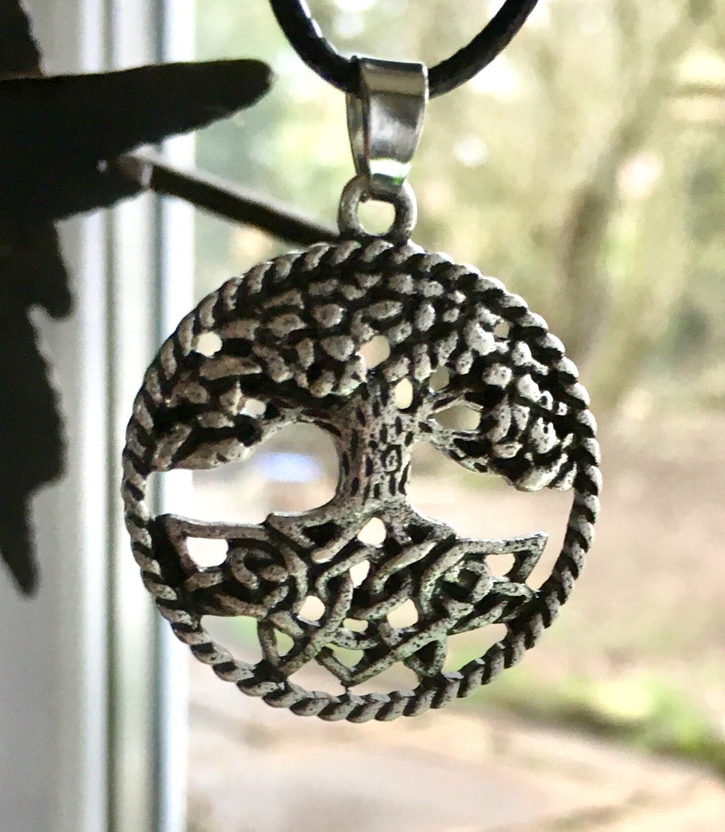 gold product silver celtic with small bead warrior pendant