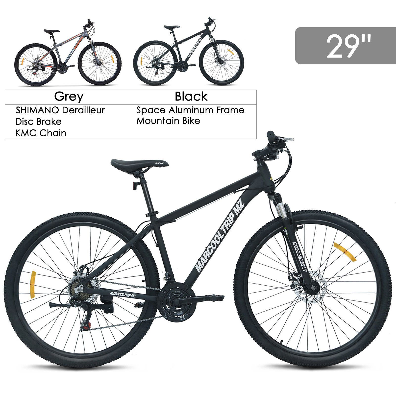"""29/""""Aluminum Frame Men/'s Mountain Bike 21 Speed Shimano Hybrid Bicycle Disc Brake"""