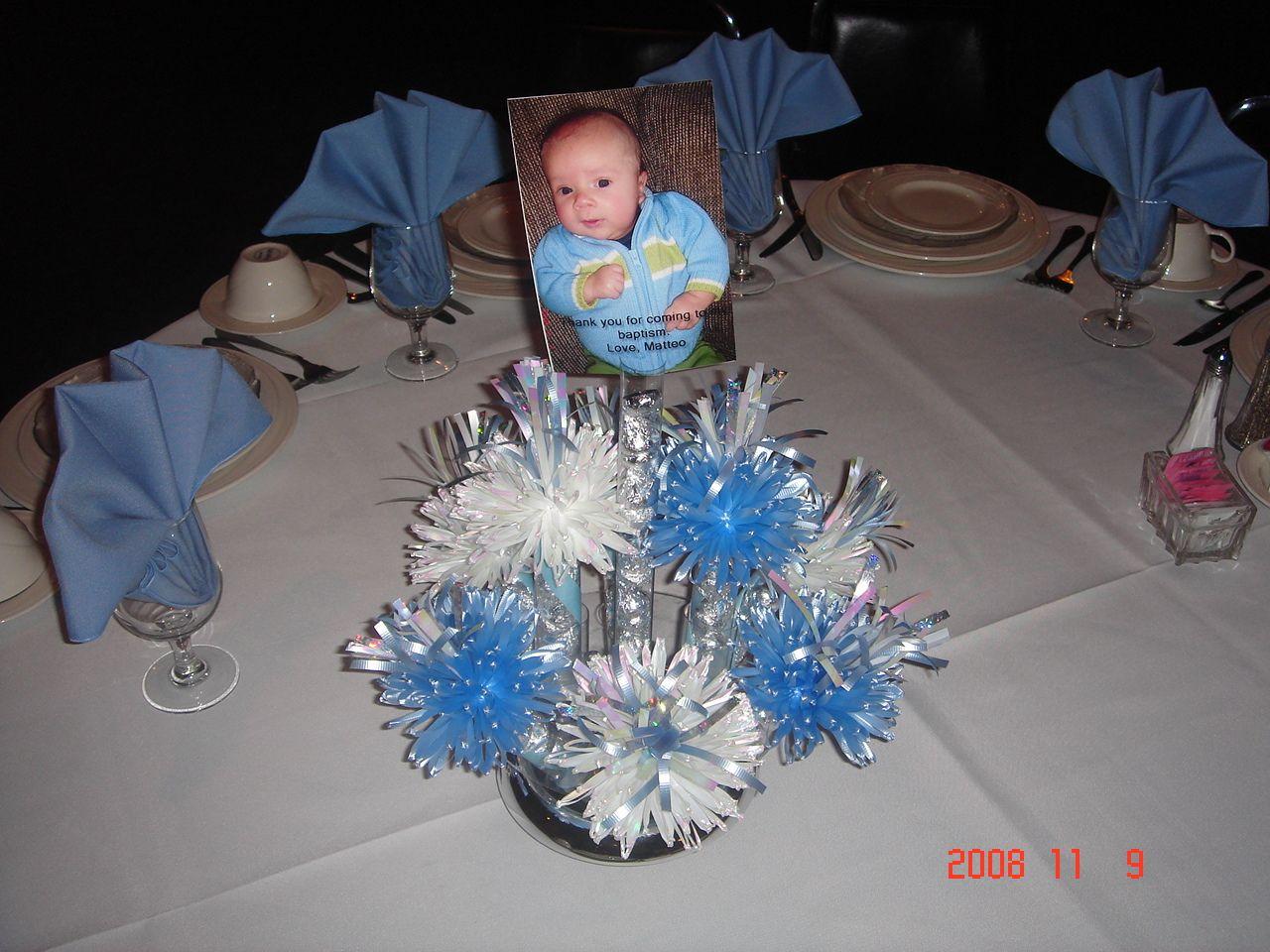 Boy Baptism Decorations Baptism Decorations Ideas How To Make A Baptism Centerpiece For