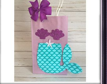 Mermaid Gift Bag Favor Birthday Party First Baby Shower