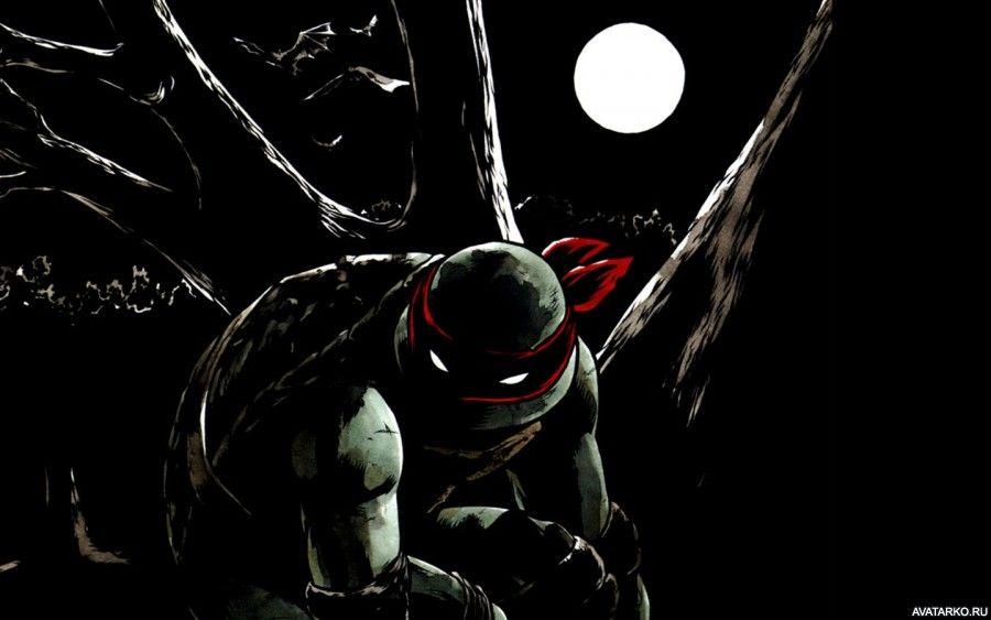 Ночная черепашка-ниндзя Рафаэль в свете Луны - картинки и ...
