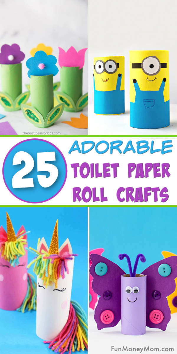 Your kids are going to love making these cute toilet paper roll crafts! It's a great way to keep the