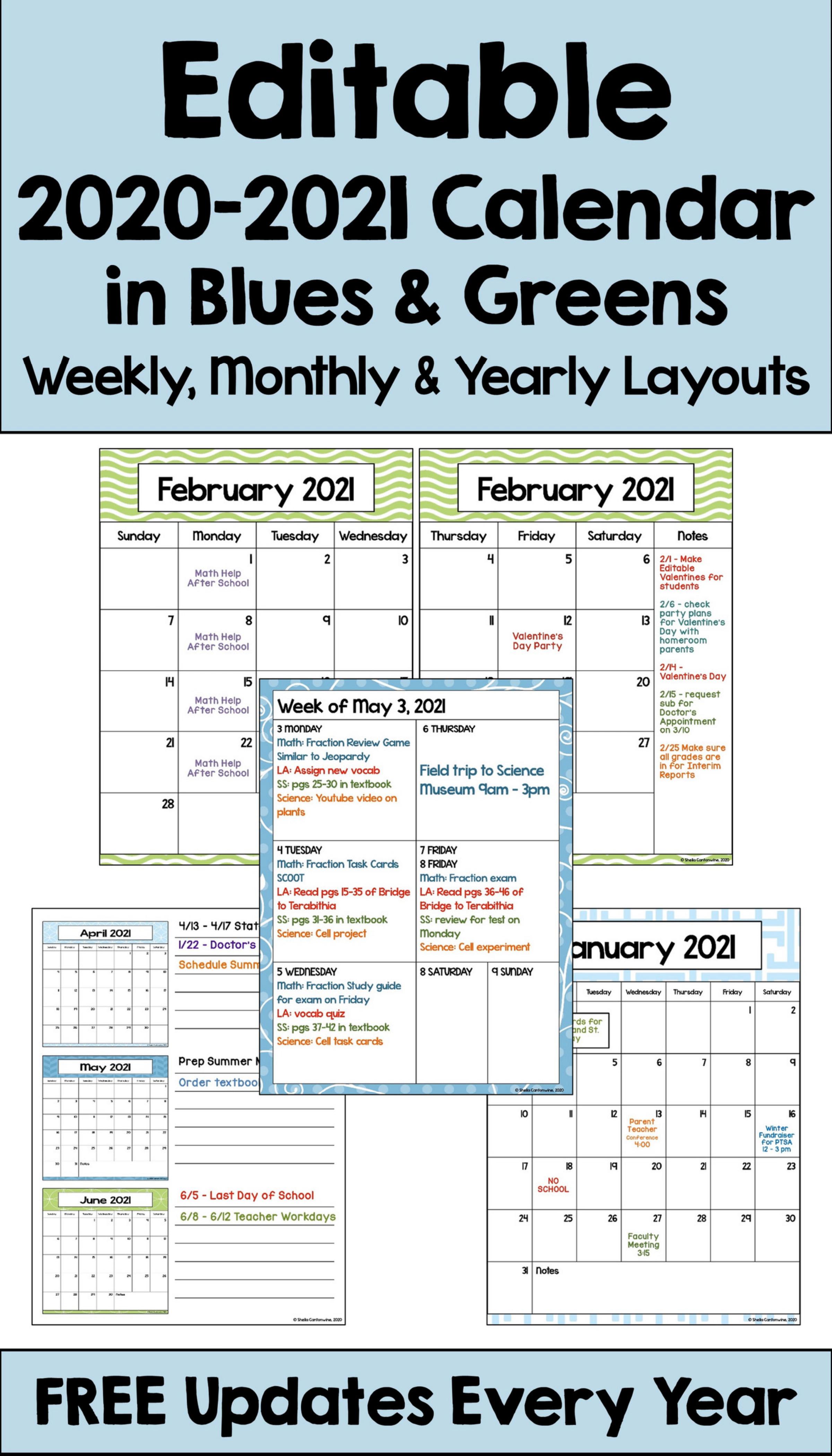 2021 Calendar Templates Editable By Word / Calendar 2021 ...
