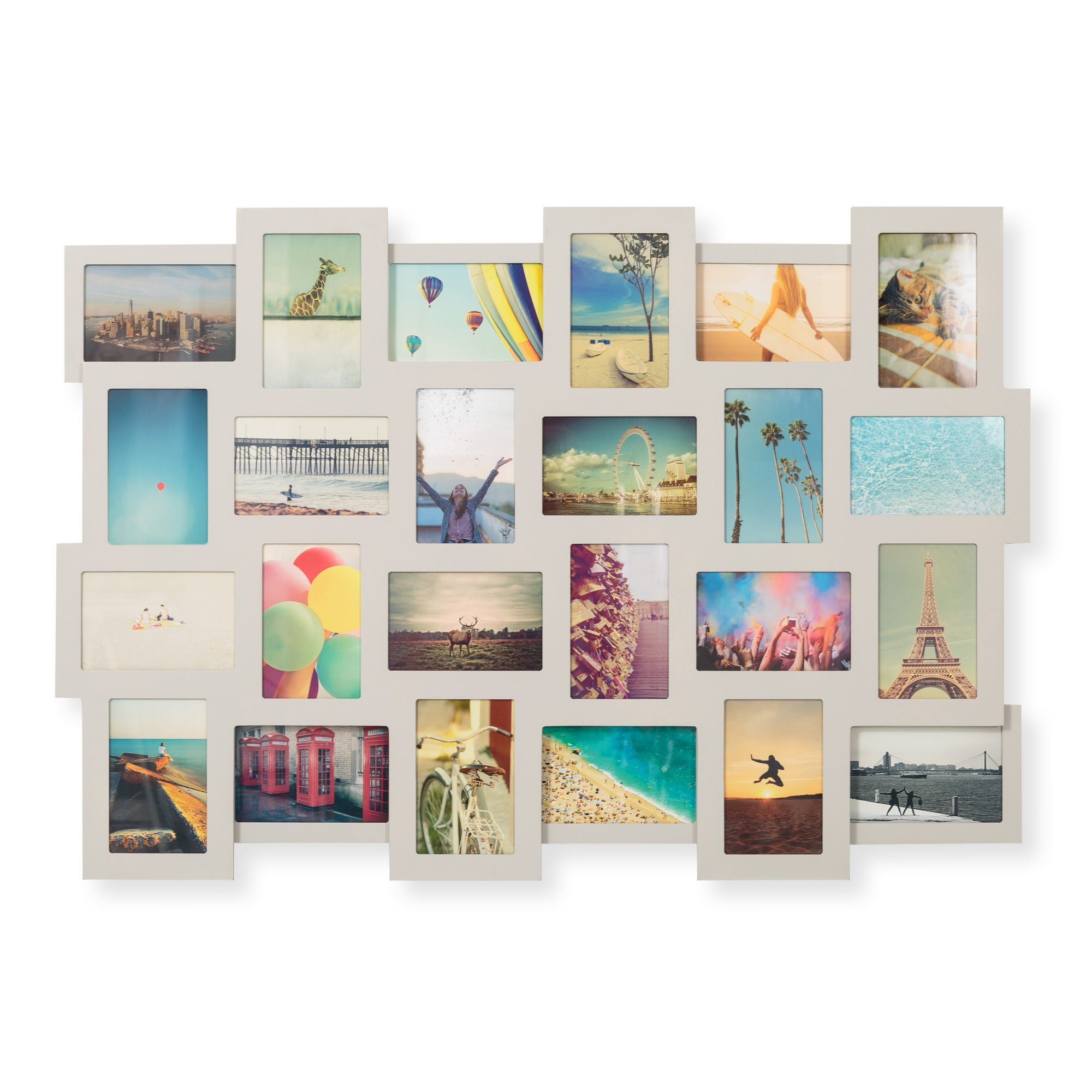 Grey Rubix 24 Picture 4X6 Multi Wall Frame - Oliver