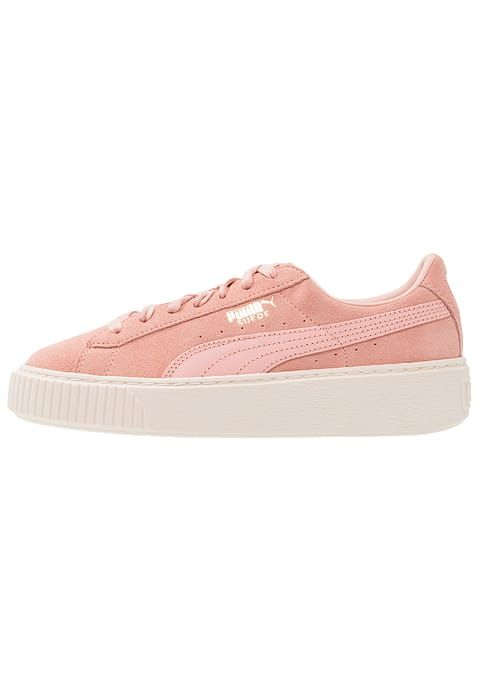 Chaussures Puma SUEDE PLATFORM CORE - Baskets basses - coral cloud/whisper  white rose: