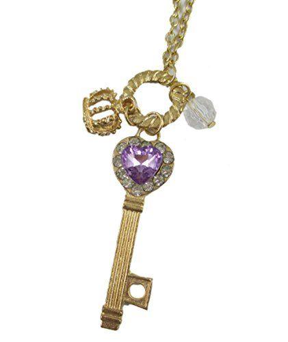 Beone Romantic Purple Girls Heart Love Rhinestone Crytal Silver Key Pendant Crown Long Chain Necklace BeOne http://www.amazon.com/dp/B00V4INLQC/ref=cm_sw_r_pi_dp_pBEpvb1BK84A5