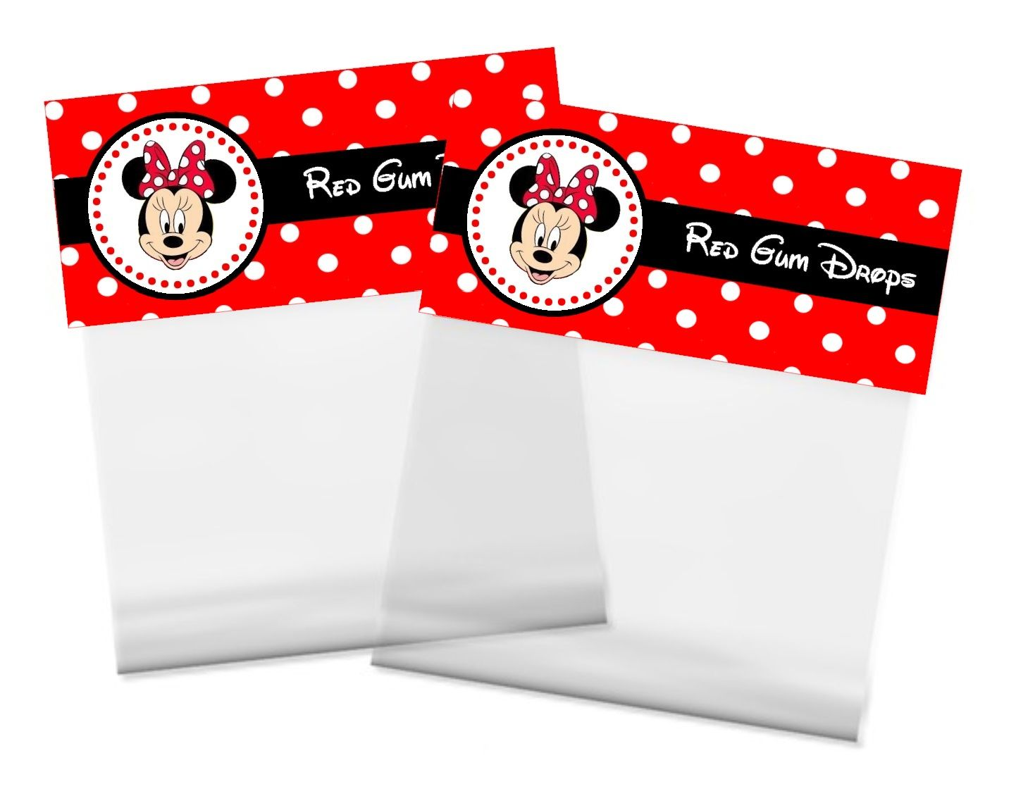 Minnie Mouse Party: Favor Bag Toppers.