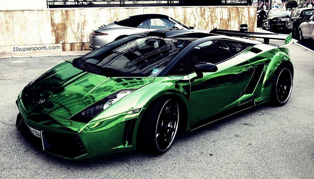 Chrome Green Lamborghini Gallardo Lamborghini Lamborghini