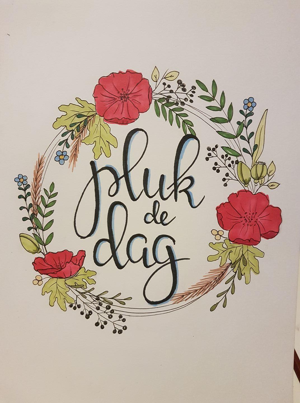 Pin Van Lucie Van Dijk De Bever Op Handlettering Quotes
