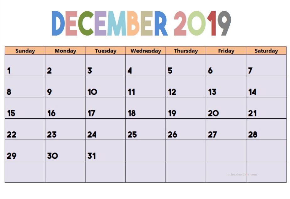Pin On December 2019 Calendar