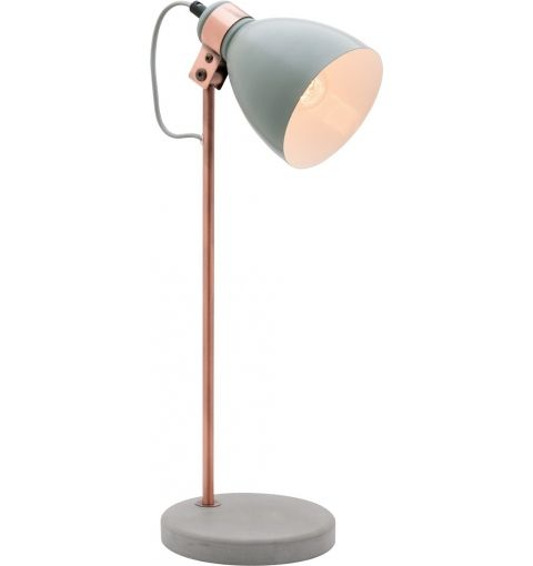 Orlando table lamp with concrete copper grey