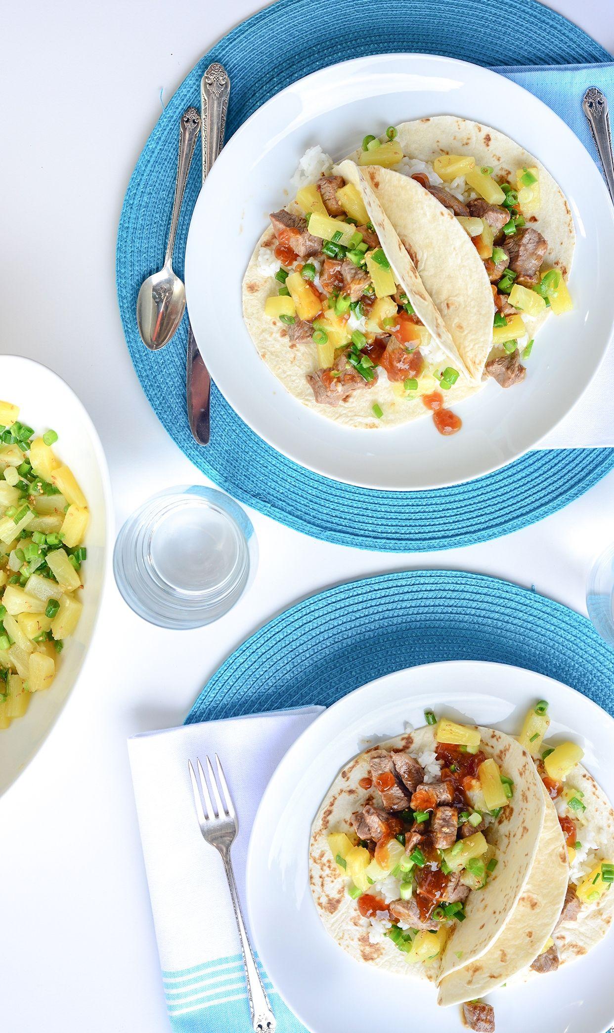 Teriyaki Tacos with Pineapple Salsa | Weeknight Society