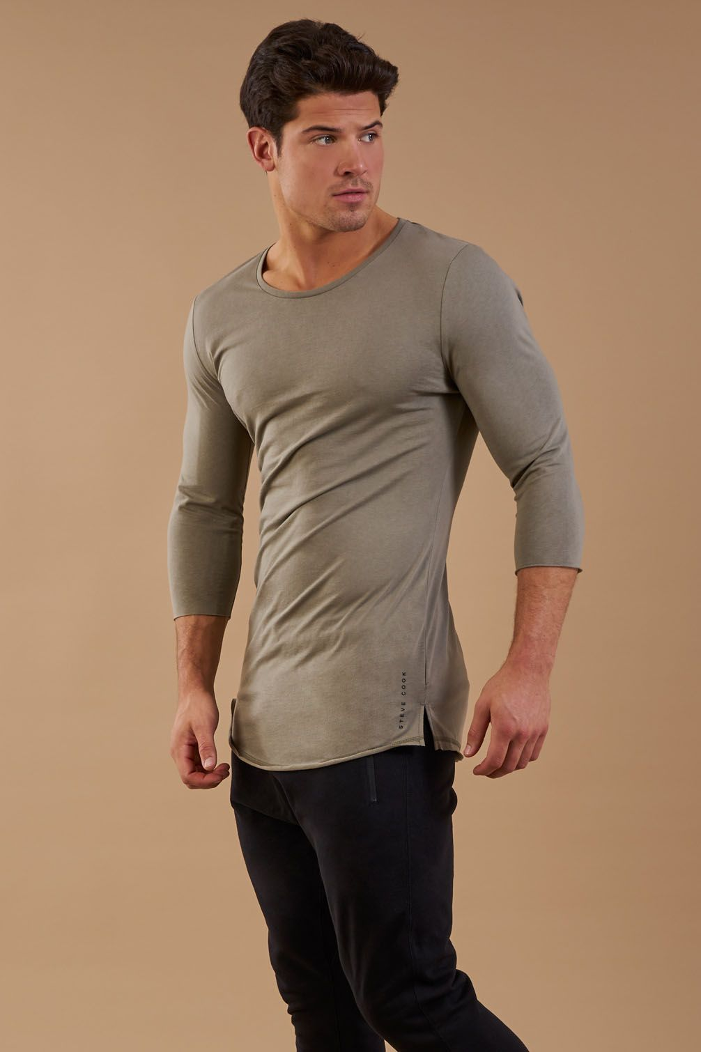 7fd7b6bbdea The Raw 3 4 Length Sleeve T-Shirt