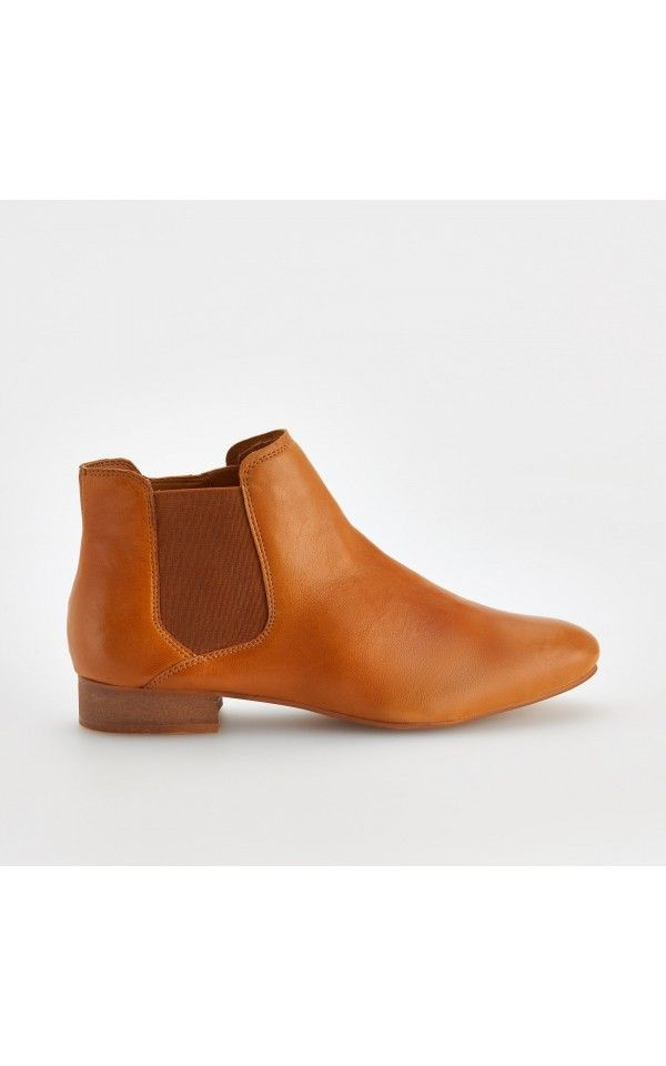 Skorzane Sztyblety Buty Pomaranczowy Reserved Chelsea Boots Boots Leather Riding Boots