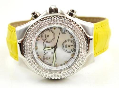 Technomarine Technomillenium Mother Pearl Dial Diamond Bezel Chronograph Watch | eBay