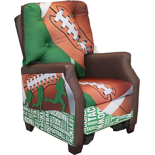 Toddler Sports Recliner Chair Perfect For Sports Themed Bedroom