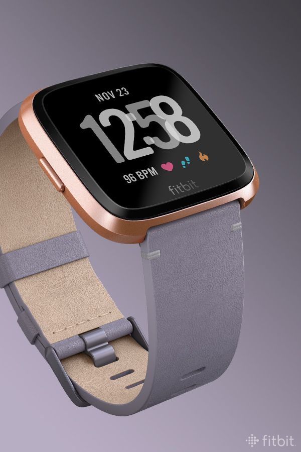 For Your Viewing Pleasure Fitbit Versa In A Soft Lavender Horween