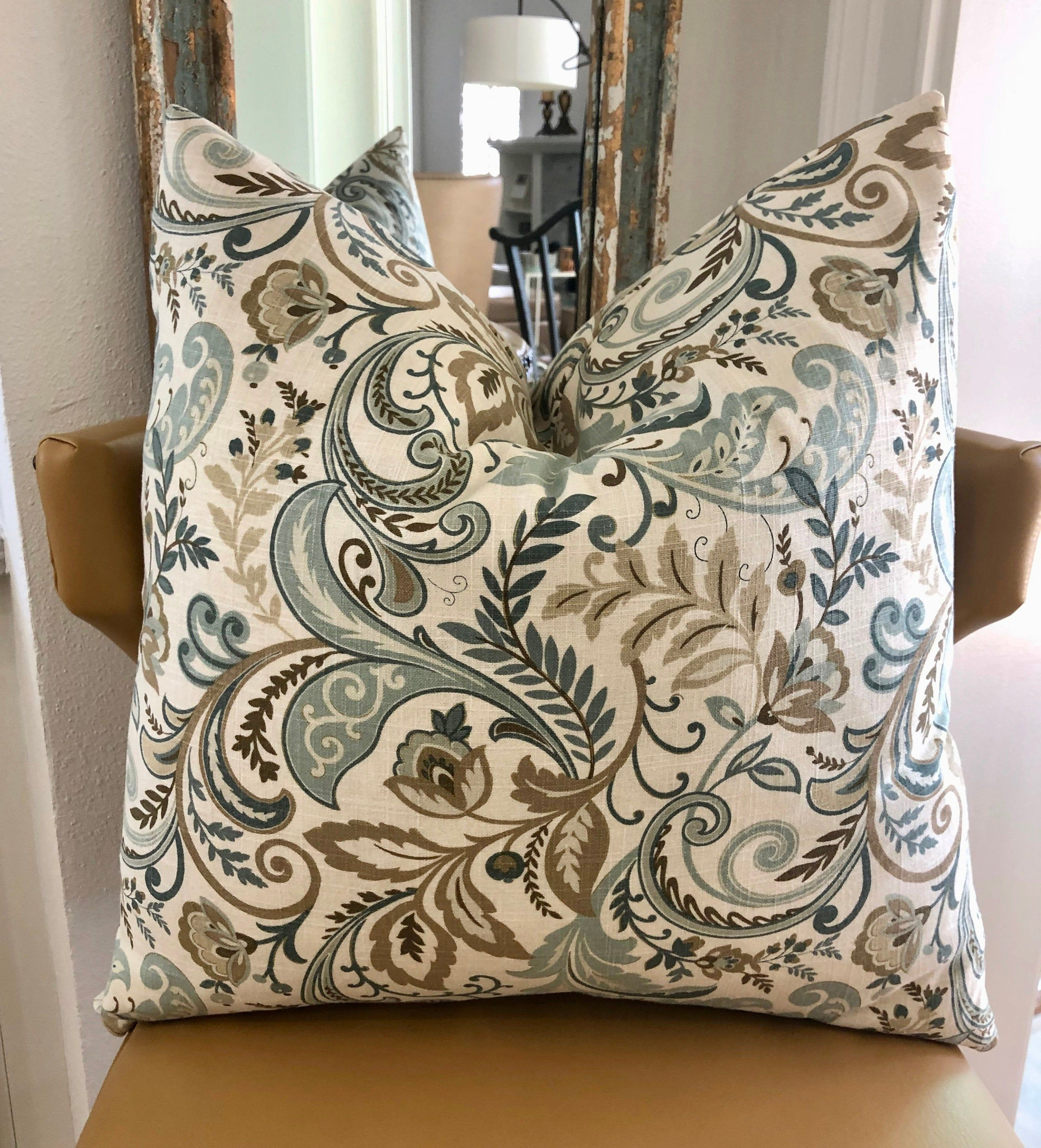 French country linen throw pillow cushion cover