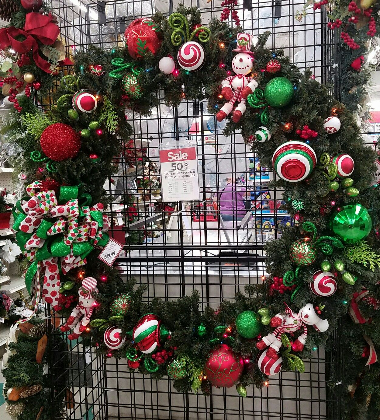 60 inch lighted wreath