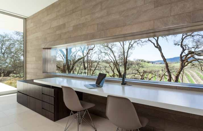 Modern Vineyard House Naturally Blends Function And Comfort.