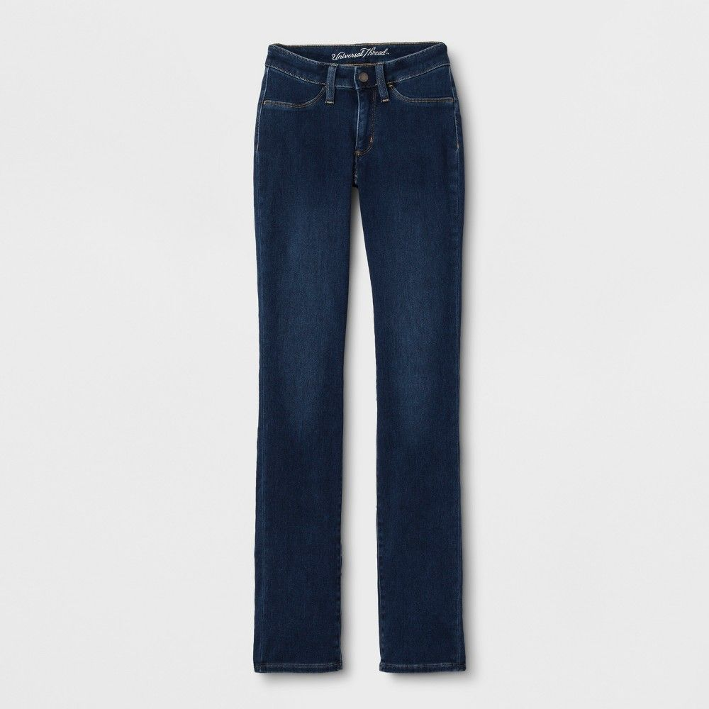 b04df0eb6e17 Women s Adaptive Straight Leg Jeans - Universal Thread Dark Wash 00 ...