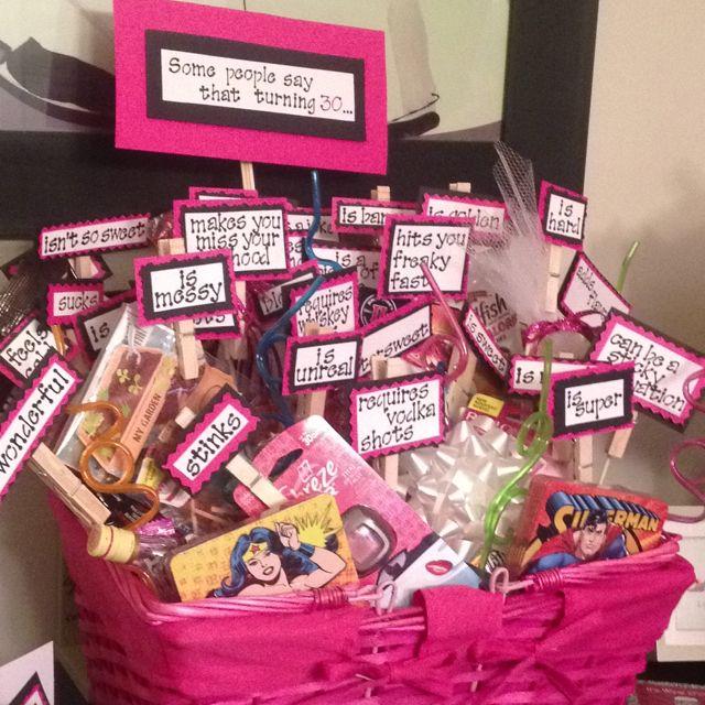 Turning 30 Birthday Basket 30th Birthday Gifts Birthday Basket Birthday Gifts For Best Friend