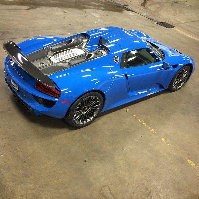 Hyperarousal Collector Owns Laferrari Porsche 918 And: Voodoo Blue Porsche 918 Spyder