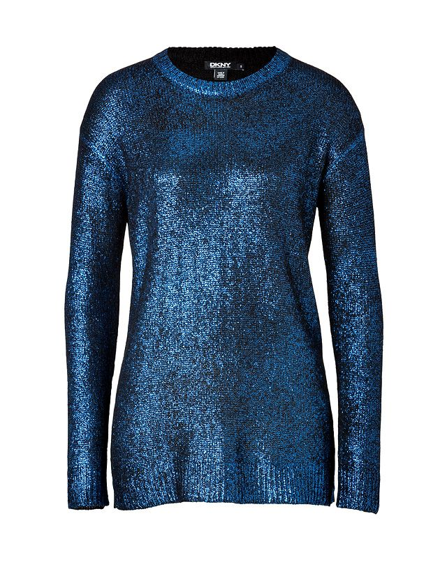 DKNY Metallic Pullover in Sapphire $ 335