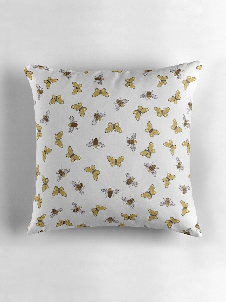 Bee Cushion Home Decor Erfly Brown Cushions Gift Erflies Bees And