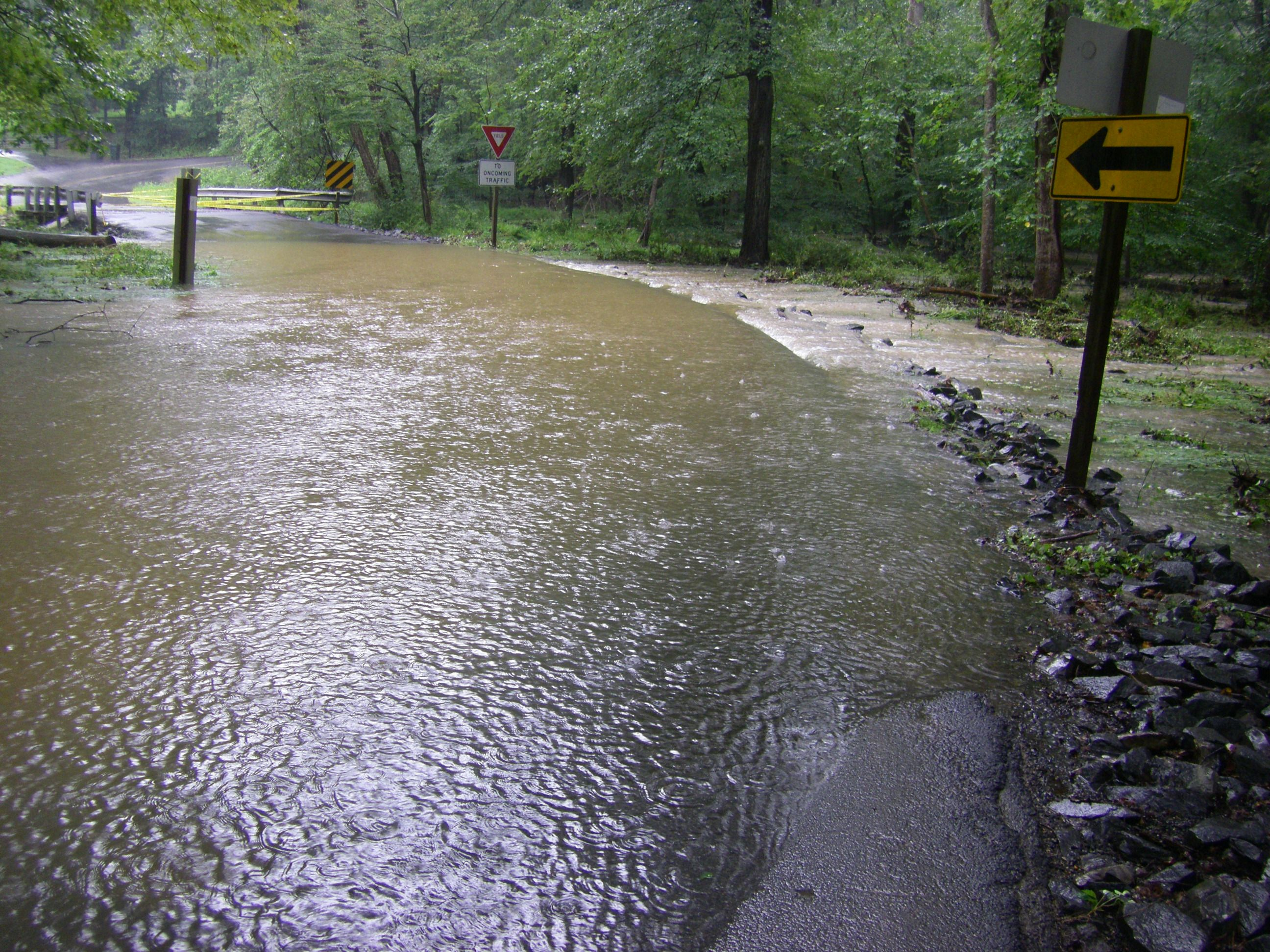 Flooding near Fairfax Station, VA