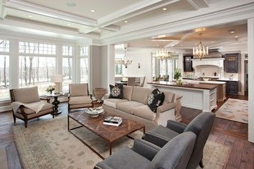 Great Room Transitional Family Room Minneapolis Hendel