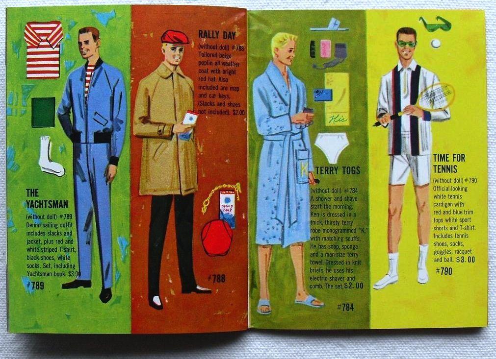 Barbie and Ken 1961 Mattel Vintage Fashion Illustration Ca… | Flickr